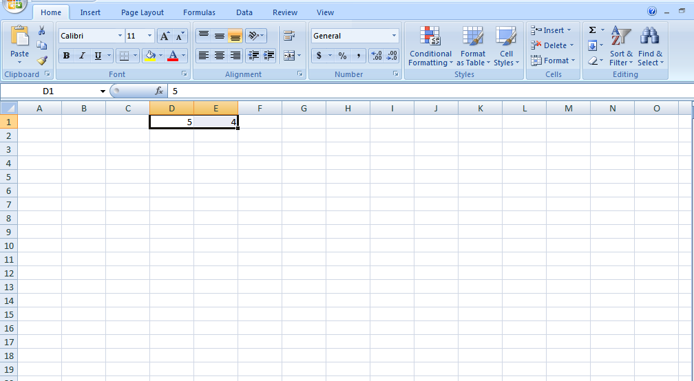 divide in excel