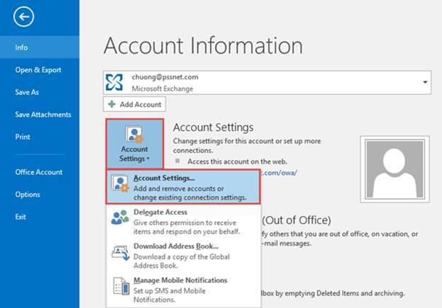 Configure Microsoft Outlook 2016