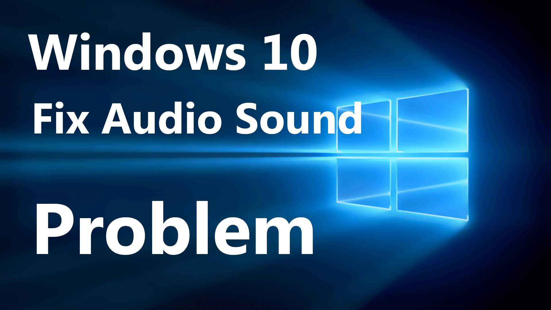 no sound from my computer windows 10