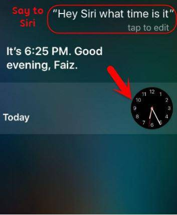 What time is it Siri