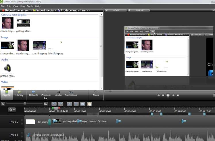 record video camtasia studio