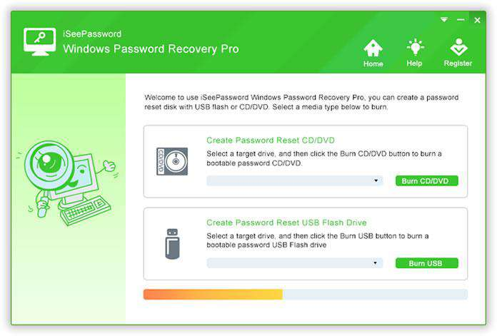 install windows password recovery advanced
