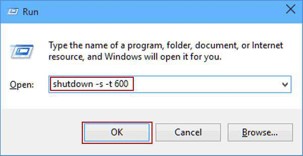 shutdown your windows 10