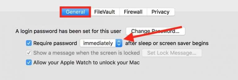 stop wakeup password on mac