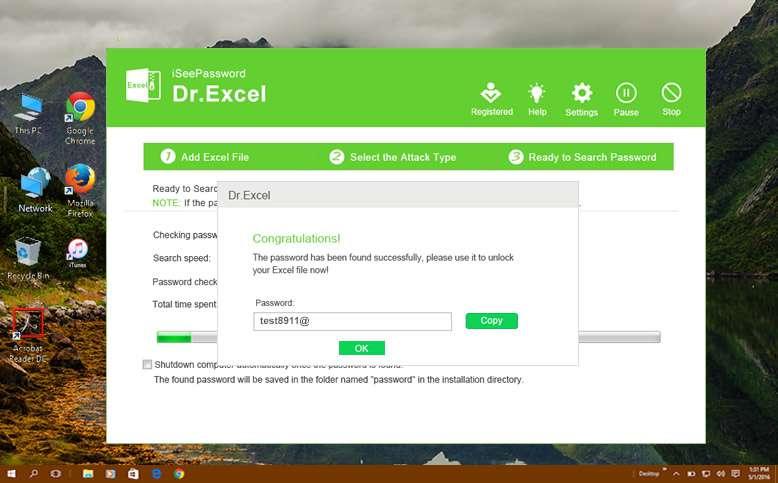 find your Excel password