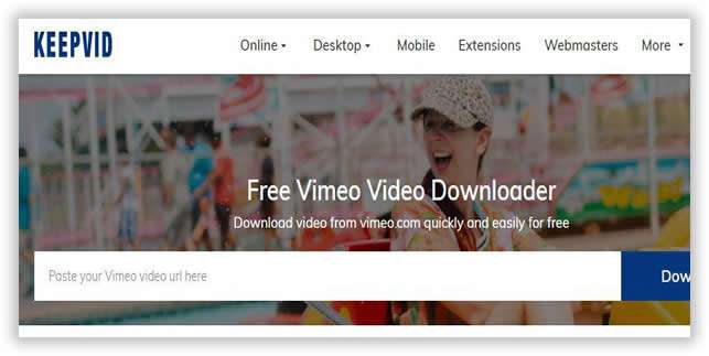 download video with KeepVid