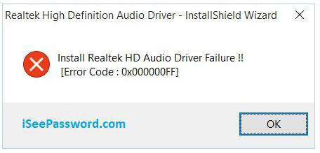 Fix Realtek High Definition Audio Driver
