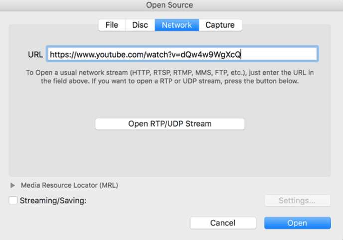 Download YouTube Videos on Mac using VLC