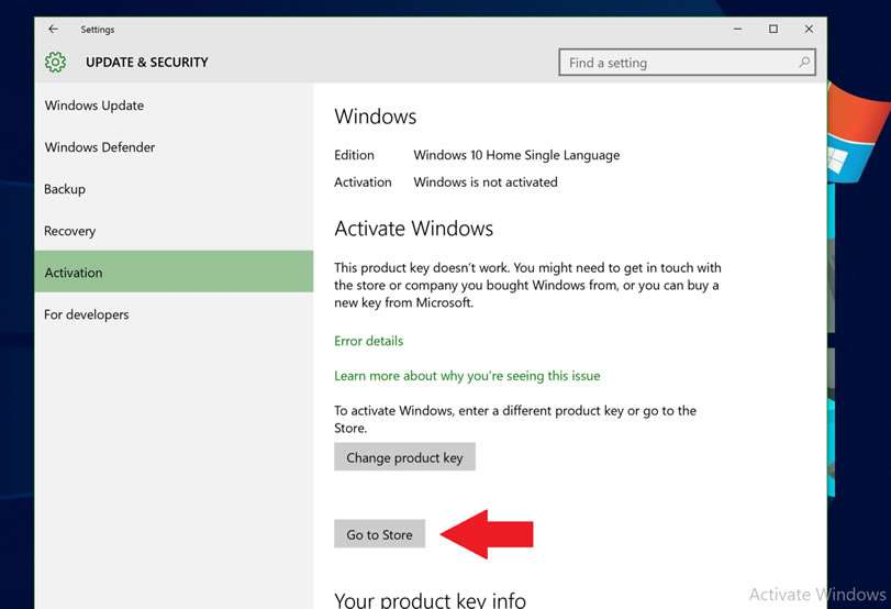 activate your windows 10