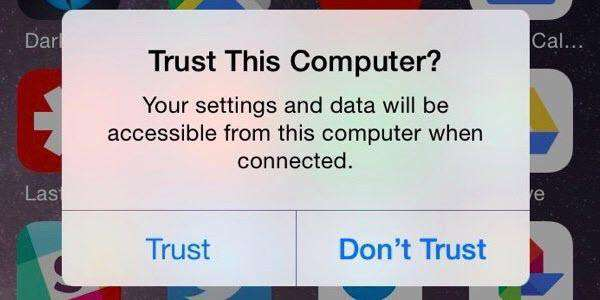 Enable Trust Device on iPhone