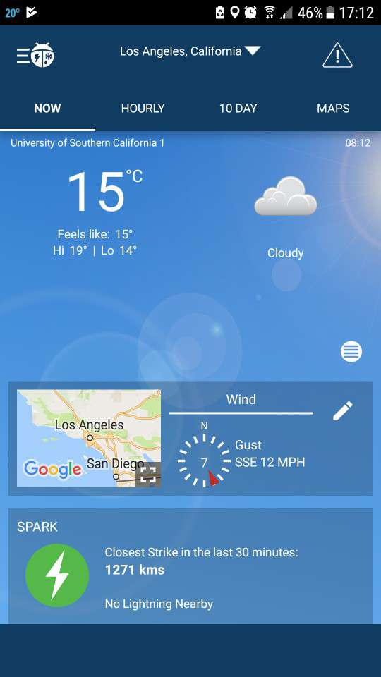 android weather app weatherbug