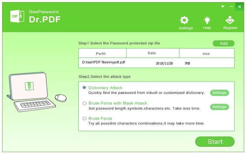 remove unknown password on pdf