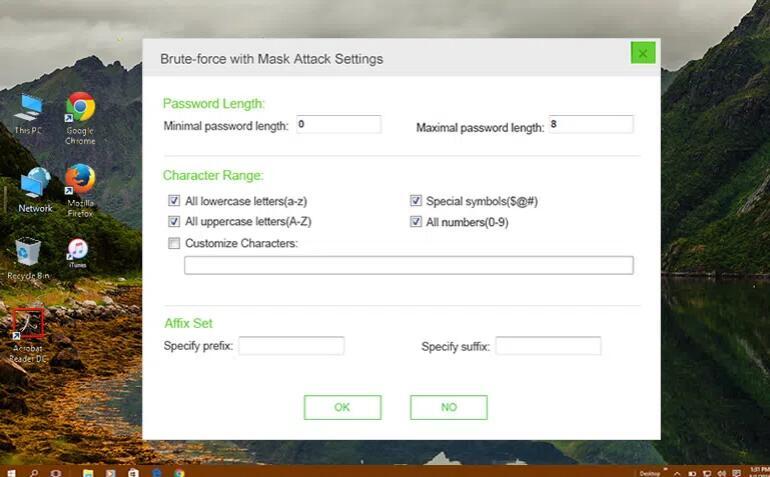 dr.pdf mask settings