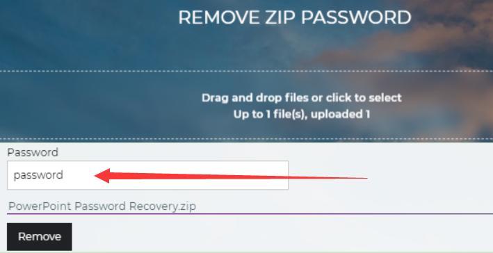 remove zip password online