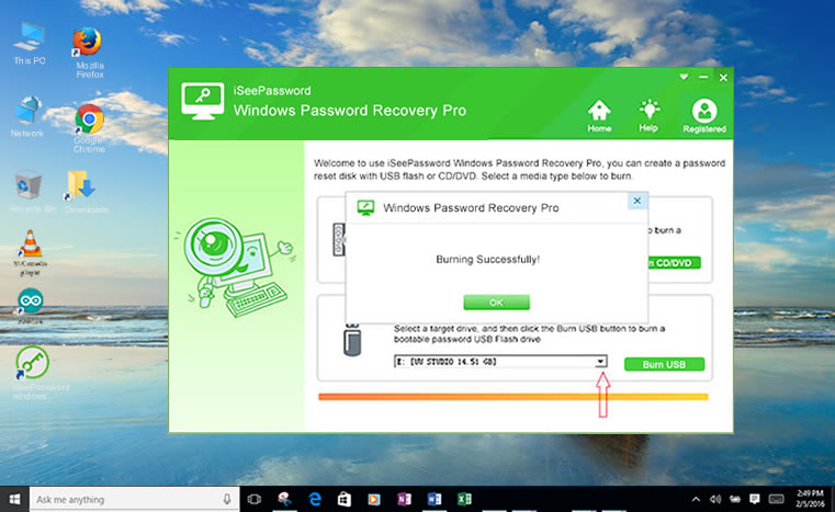 usb password reset disk