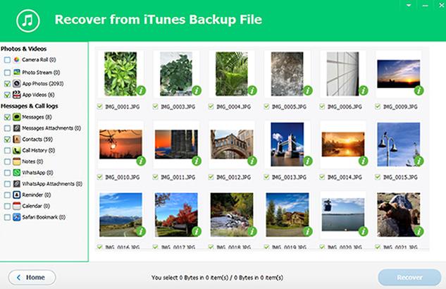 iSeePassword iTunes Backup Extractor screenshot