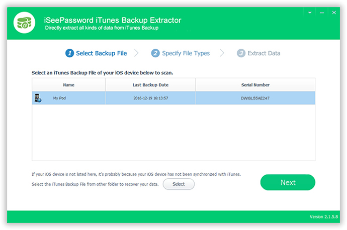 iPhone Photos Extractor - Extract Photos from iTunes Backup