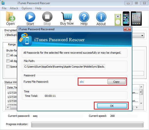how to change your itunes backup password