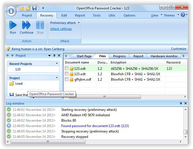 How to Recover OpenOffice Password If I Forgot?