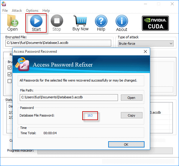 crack Access password