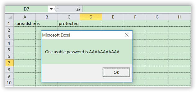 crack password unprotect sheet excel