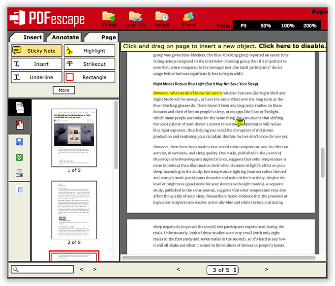 PDFzorro - edit pdf-files online