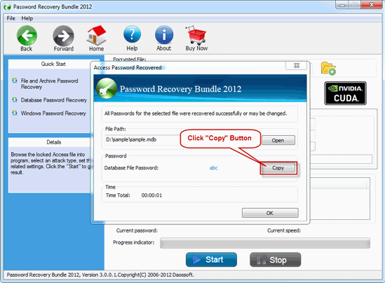 start to recover office password