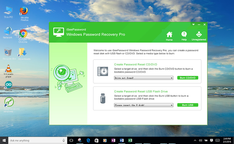 use windwos password recovery to reset your Toshiba windows password