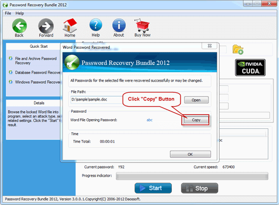 start to recover outlook password