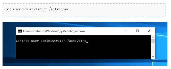Enable and Disable Built-in Administrator Account on Windows 10/8,8 1/7