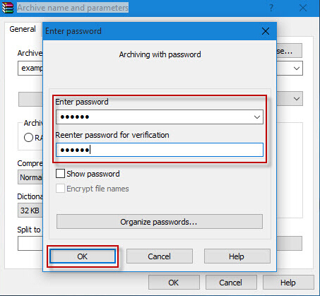enter the zip password