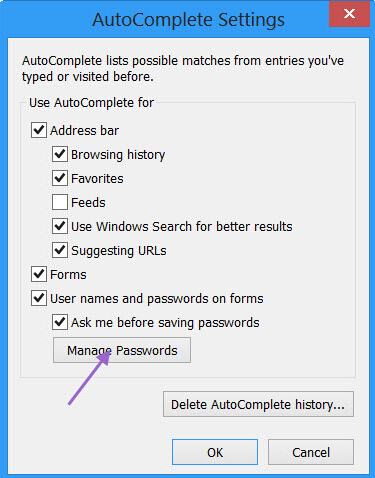 AutoComplete settings""