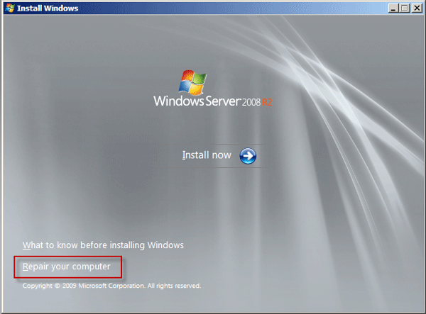 forgot Windows server 2008 password