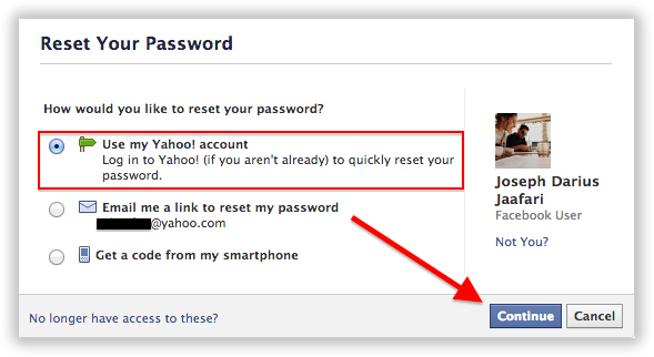 use my yahoo password