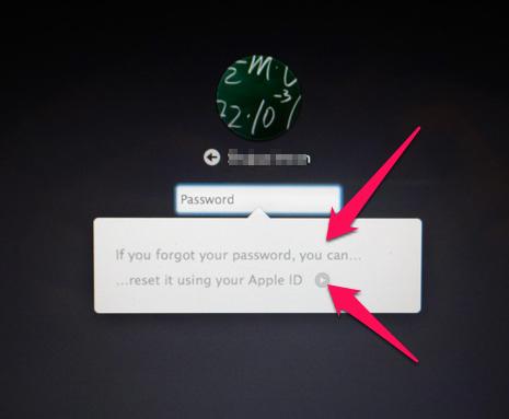 macintosh password reset
