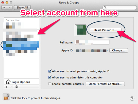 how do i find my administrator password on mac
