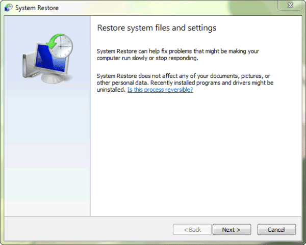 reset a computer to factory settings windows 7