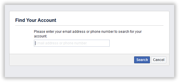 find your account