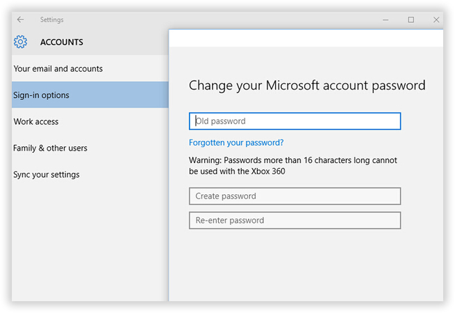 change windows 8 password with pin
