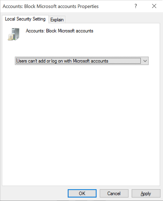 Users cannot log on or add with Microsoft accounts