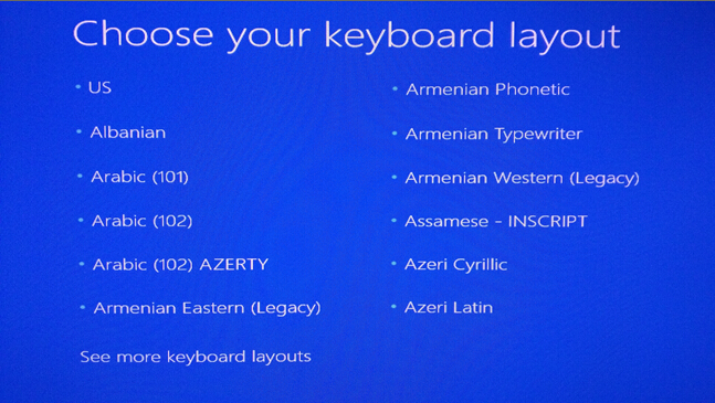 choose your keyboard layout