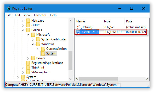 how to unblock command prompt windows 8
